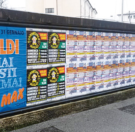 Stampa affissioni pubblicità