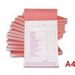 Blocchi carta chimica A4 per Stampa