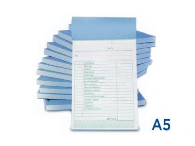 Stampa blocchi carta chimica A5
